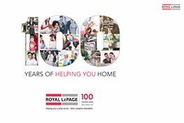 Royal LePage 100 Years of Helping You Home